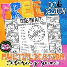 FREE Multiplication Game!  Do & Design Math Coloring Games are designed to be a fun mix of mastery, play, and creativity! Students will develop stronger problem solving skills and increase math fluency. Since problems are repeated in the game, students have multiple opportunities to practice effective mental math strategies as they build fluency.