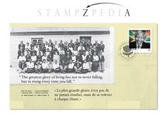 First Day Cover (FDC). Black History Month - Nelson Mandela. Canada Post 2015 Stamp Issue.