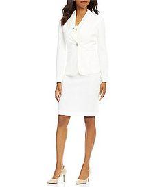 John Meyer Long-Sleeve 2-Piece Skirt Suit