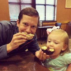 Our Feb. cover model and her dad were lovin' National Donut Day!