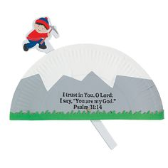 Paper Plate Mountain Climber Craft Kit - OrientalTrading.com
