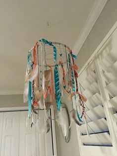 DIY baby mobile for tribal nursery.