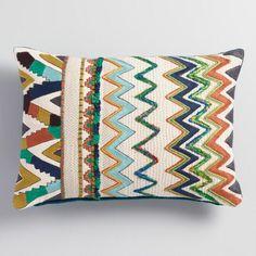 Zigzag Velvet Lumbar Pillow - v1