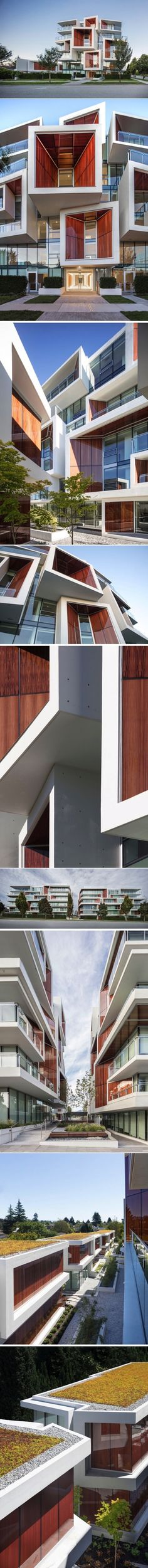 his New Building Features Wood That's Been Framed Inside Glass Panels