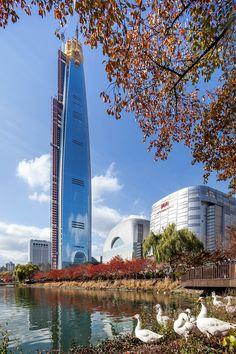Lotte World Tower Burj Khalifa, Engineering, Tower, Architecture, Building, Travel, Arquitetura, Rook, Viajes