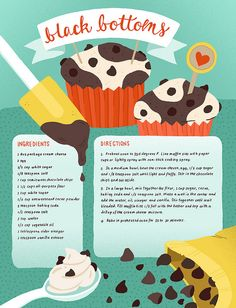 my favorite cupcakes of all time! and this illustration is soo darn cute it hurts!