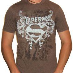Exclusive - SUPERMAN T-Shirt - LOGO OVER CHAINS - T-Shirts / Shirts - SUPERMAN - Labyrinthe Rock