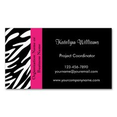 Stylish and modern zebra print business card business cards reheart Choice Image