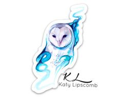 Galaxy Owl is now available as a vinyl die-cut sticker.   Measuring approximately 3x2 inches, this design is great to make a splash on your laptop, notebook, phone, or anywhere else you want to sticker bomb.   Vinyl  stickers will stand up to the elements and survive a spill.  They have great dur