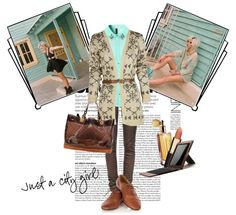 """""""just a city girl"""" by thalia-kallia ❤ liked on Polyvore"""