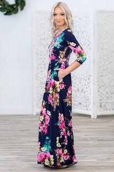 42dd3f11682 Mint Striped Floral Colorblock Ruffle Maxi Dress in 2019