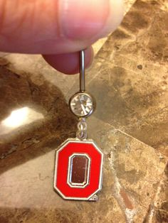 Ohio State Block 'O' Belly Button Ring *FREE SHIPPING* $5.00