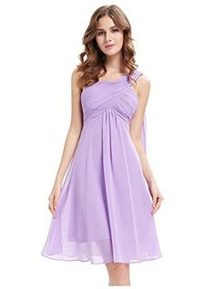 SBelle One Shoulder Ruched Empire Waist Bridesmaids Dress Color Purple Size XXL