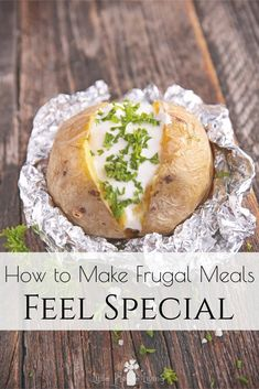 How to Make Frugal Meals Feel Special - Little House Living Fancy Drinks, Fancy Desserts, Frugal Meals, Cheap Meals, Big Meals, No Cook Meals, Crockpot Recipes, Soup Recipes, Little House Living