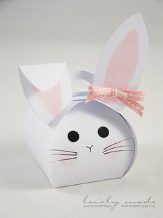 Eid Crafts, Diy And Crafts, Crafts For Kids, Bunny Crafts, Easter Crafts, Diy Gift Box, Diy Gifts, Easter Presents, Diy Ostern