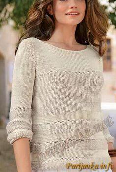 Пуловер без воротника (ж) 32*161 Bergere de France №2636
