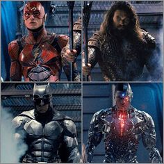 Guys I recommend you give a follow to @heroichollywood !! He posted this detailed pic of the men from the Justice League film!! He also has breaking movie news. What are you guys think of their costumes up close Download this image at nomoremutants-com.tumblr.com Key Film Dates Justice League Nov 17th 2017 The Flash Mar 23rd 2018 Aquaman Jul 27th 2018 Shazam Apr 5th 2019 #comicbooks #comicbooks #dccomics #batman #DamianWayne #joker #gotham #robin #redhood #batmanbeyond #su... Comic Book Characters, Comic Character, Comic Books, Justice League 2017, Justice League Unlimited, Marvel Dc Comics, Marvel Vs, Videogames, Deadshot