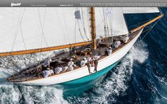 Taking place each year at the end of September, Les Voiles de St. Tropez attracts sailors and yachts from all corners of the globe. Classic Sailing, Classic Yachts, Ocean Sailing, Sailing Ships, Sailing Yachts, Saint Tropez, Maddalena Archipelago, Sailing Pictures, Boating Holidays