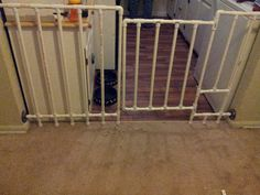 Pvc pipe gate. with a dog door.