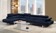 Hollywood Blue Linen Adjustable Sectional Sofa with Armless Chair and Left Facing Chaise Sectional, Left Facing Chaise, Blue Furniture Living Room, Armless Chair, Blue Linens, Wholesale Furniture, Sofa, Chaise, Sectional Sofa