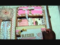 Shabby Chic Tim Holtz Folio - for SWMB - YouTube