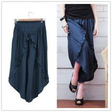 MY6070 Plus Size OL Temperament Casual Skirt Ninth Pants Blue [MY6070] - $16.50 : China,Korean,Japan Fashion clothing wholesale and Dropship online-Be the most beautiful Lady