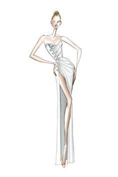Vogue Fashion, Fashion Art, Fashion Show, Fashion Design, Fashion Illustration Poses, Illustration Mode, Illustrations, Ralph & Russo, Top Models