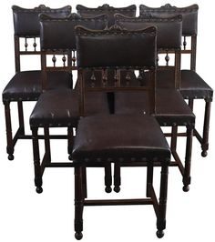 Dining Chairs Art Nouveau Antique French - Set of 6 French Dining Chairs, Antique Dining Tables, Traditional Dining Room Furniture, Art Nouveau, Base, Accent Chairs For Living Room, Traditional Decor, French Antiques, Furniture Decor