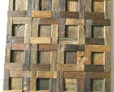 reclaimed wood wall decor details about wood wall tile wood wall decor mosaic tiles rustic tiles Wood Wall Tiles, Decorative Wall Tiles, Wood Plank Walls, Wood Mosaic, Wooden Walls, Rustic Wood Wall Decor, Reclaimed Wood Wall Art, Rustic Tiles, Wall Cladding Panels