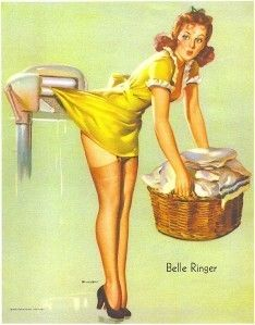belle ringer by elvgren, 1941. a sweet little vintage sexy for the adventurous laundry room.