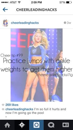 cheer quotes I do this at home and it seriously works! Cheerleading Workouts, Cheer Tryouts, Cheerleading Quotes, Cheer Coaches, Cheer Stunts, Cheer Dance, Competitive Cheerleading, All Star Cheer, Cheer Mom