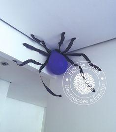 Festa Infantil Halloween - Detalhes do salão - Dona Aranha