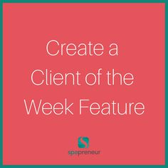 This is an easy and fun way to reward client loyalty. Use Google Forms or Survey Monkey to create a standard form and then send them to your client list. Ask for a photo, why they love your spa, and then make them into blog posts. Boom- you're honoring your clients and you have an additional blog post each week. #100 #spa #businessadvice #spaadvice #spalife #guide #spatips #tips #ebook #massage #skincare #nails #nailcare #dayspa #spaprofessional #businesstips #biztips #biztip #entrepreneur