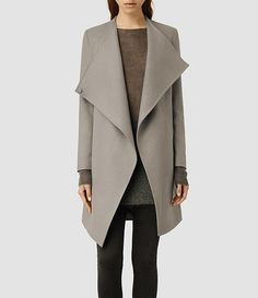 All Saints - Ora Coat THE MOST AMAZING COAT EVER too bad it's $595 I've been hoping it would go on sale since Feb, no such luck yet