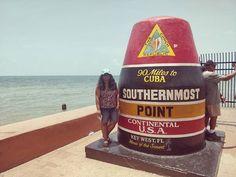 Southernmost point of USA... #keywest #southernmostpoint #vacation #traveldiaries2018 #galfromtheisland #keywestflorida #summer2018 #sunsandandsea #landmarks #southernmostpointusa