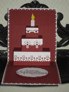 TROIS CARTES DONT DEUX POP UP.                                                                                                                                                      Plus                                                                                                                                                                                 Plus Pop Out Cards, Love Cards, Diy Cards, Tarjetas Pop Up, Doodle Coloring, Diy Christmas Cards, Custom Cards, Greeting Cards Handmade, Cardmaking