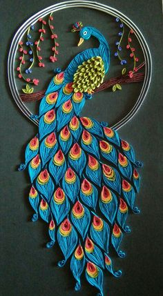 Quilled paper art colourful owl handmade artwork paper wall art home decor wall decor home decoration quilled art – Artofit Paper Quilling Patterns, Quilled Paper Art, Quilling Paper Craft, Diy Paper, Paper Crafting, Diy Quilling Cards, Quiling Paper, Quilling Work, Neli Quilling