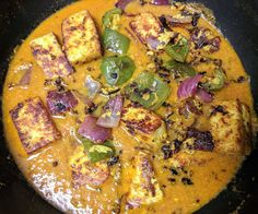 Paneer Tikka Masala is a popular Indian vegetarian dish made of marinated & grilled paneer cooked in a rich onion tomato based creamy gravy. Veg Recipes, Kitchen Recipes, Indian Food Recipes, Vegetarian Recipes, Chicken Recipes, Cooking Recipes, Ethnic Recipes, Paneer Recipes, Recipies