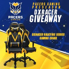 Enter This Pacers Gaming Preseason DXRACER Valkyrie Series Gaming Chair Giveaway!