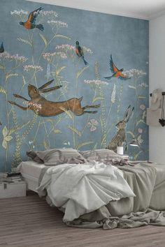 Bedroom Wall, Bedroom Decor, Wall Decor, Castle Bedroom, Mural Art, Wall Murals, Luxury Homes Dream Houses, Dream Homes, Decoration