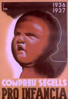 Compreu segells pro infància, 1936-1937 :: Cartells del Pavelló de la República (Universitat de Barcelona)