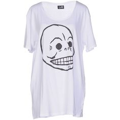 Cheap Monday T-shirt (34 CAD) ❤ liked on Polyvore featuring tops, t-shirts, white, jersey t shirts, cotton tee, white jersey, short sleeve tee and white short sleeve t shirt