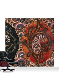 Victoria and Albert Museum Design for Printed Shawl Standard Mural - 8' x 8'