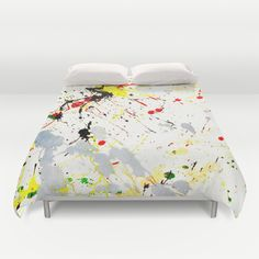 Paint Splatter - Available on Cards, #HomeDecor, #PhoneCases, Clothing & more at #Society6 by #Gravityx9 - #Duvet #Bedding
