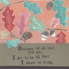 Because Of You Greeting Card - Curly Girl Design