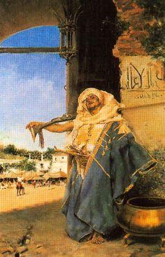 Guarda marroquí. 1878. Óleo sobre lienzo. 63,5 x 42,5 cm. Colección particular. Obra de José Villegas