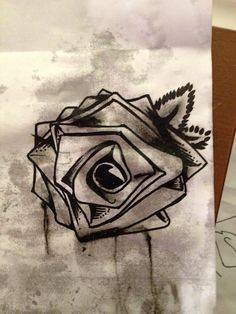 The rose drawn by Danny Rose Murillo from Hollywood Undead. I think I want this on my hand someday.