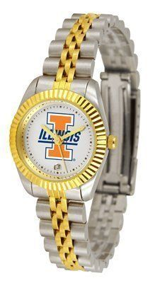 Illinois Fighting Illini Suntime Ladies Executive Watch - NCAA College Athletics by Sun Time/Links Warner. $139.95. A timepiece as classic as the game itself. Our Executive timepieces offer a more formal look, with Colorado State Rams team logo on the watch face and is beautifully represented with raised 23-kt gold and is accented by a fluted gold-toned bezel. Features include: Date Function, the solid link bracelet strap features two-tone styling in 23-kt gold a...