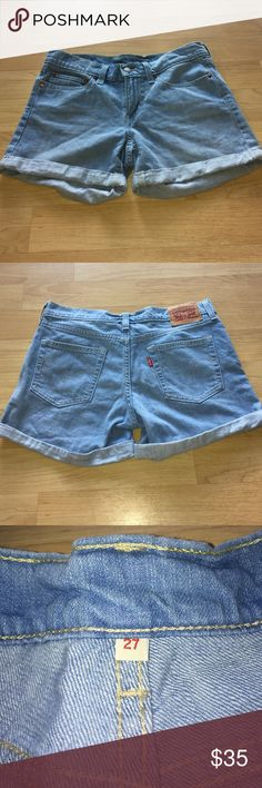 Levi's denim light wash shorts - like new Excellent like new condition. These have never been worn. They're very cute for spring or summer. Thanks for looking! Levi's Shorts Jean Shorts