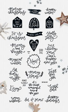 Christmas clipart Christmas svg Digital paper Christmas cards Scandinavian clipart Christmas tags black and white Christmas seamless pattern - Christmas Clipart Christmas Svg Digital Paper Christmas Doodles, Christmas Words, Christmas Clipart, Christmas Quotes, White Christmas, Christmas Ornament, Christmas Ideas, Schrift Design, Cute Words